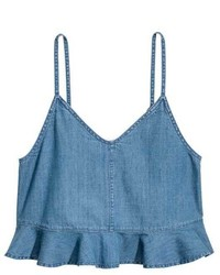 Flounced denim camisole top medium 3767800