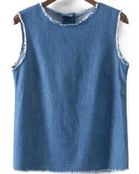 With buttons denim tank top medium 299168