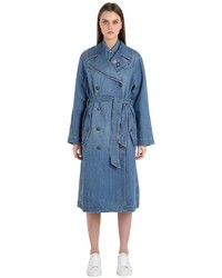 Tommy Hilfiger Cotton Denim Trench Coat Gigi Hadid