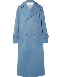 Junya Watanabe Double Breasted Denim Trench Coat