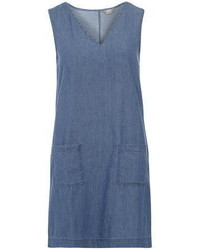 Dorothy Perkins Light Wash V Neck Denim Tunic