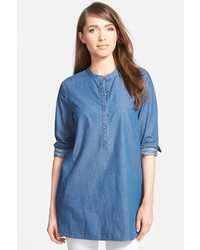 Nordstrom collection denim tunic shirt medium 421062