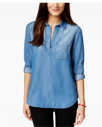 Blue Denim Tunics For Women Lookastic