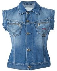 Blue Denim Vest
