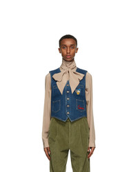 Gucci Blue Disney Edition Eco Washed Denim Vest