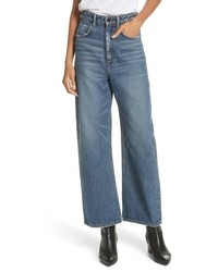T by Alexander Wang Crush Wide Leg Jeans