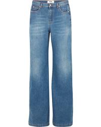 MSGM High Rise Wide Leg Jeans