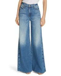 Frame Le Palazzo Snap Away Hem Wide Leg Jeans
