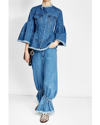 Marques almeida oversized denim pants with ankle cuffs medium 3711074