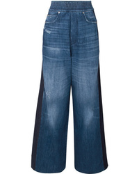 Golden Goose Deluxe Brand Sophie Paneled High Rise Wide Leg Jeans