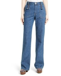 See by Chloe Wide Leg Denim Trousers