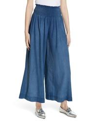 La Vie Rebecca Taylor Wide Leg Tissue Denim Pants