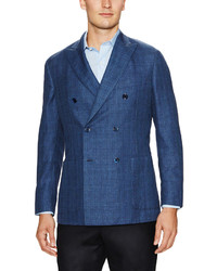 Belvest Double Breasted Plaid Sportcoat