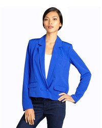 Wyatt Bright Blue Double Breasted Deep Neck Blazer