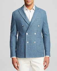 Bloomingdale's Hardy Amies Double Breasted Sport Coat Regular Fit