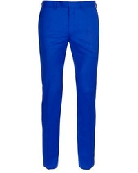 Blue ultra skinny fit suit trousers medium 118705
