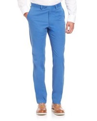 Saks Fifth Avenue Collection Stretch Cotton Trousers