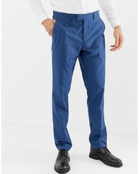 Farah Smart Farah Henderson Skinny Fit Suit Trousers In Blue