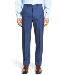 Flat front solid wool trousers medium 568785
