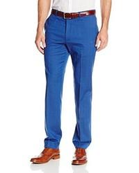 Haggar Vintage Slim Fit Flat Front Wool Herringbone Stripe Pant
