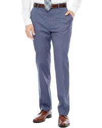 JF J.Ferrar Jf J Ferrar Birdseye Flat Front Suit Pants Super Slim Fit