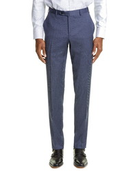 Canali Milano Mini Houndstooth Stretch Wool Trousers