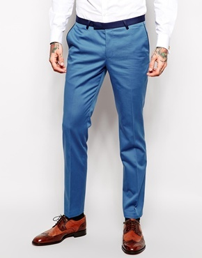 Noose Monkey Suit Pants In Skinny Fit Light Blue | Where to buy ...