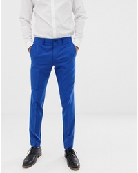 Jack & Jones Premium Stretch Slim Suit Trousers In Electric Blue