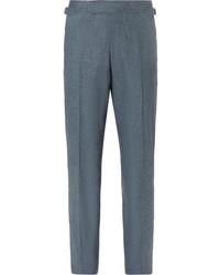 Seishin slim fit mlange stretch wool suit trousers medium 5363268