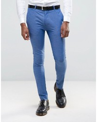 Asos Super Skinny Suit Pants In Blue