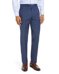 Nordstrom Men's Shop Trim Fit Stretch Wool Trousers