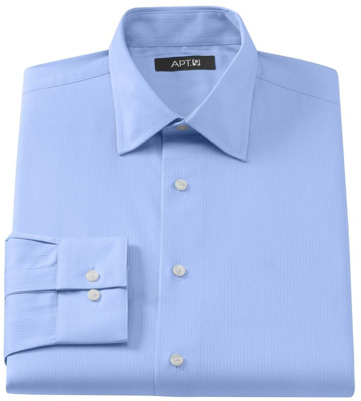 Blue Dress Shirt Apt 9 Slim Fit Dobby Spread Collar