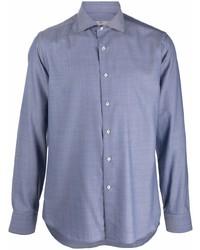 Canali Button Down Linen Shirt