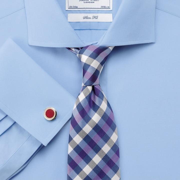 Charles tyrwhitt easy iron sky poplin spread slim fit for Mens dress shirts charles tyrwhitt