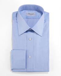Charvet Textured Dress Shirt Blue