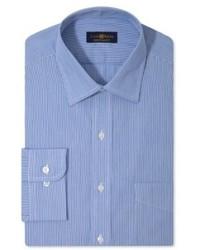Club Room Estate Dress Shirt Blue Hairline Long Sleeved Shirt