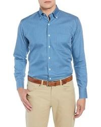 Peter Millar Crown Soft Townlands Regular Fit Multicheck Sport Shirt