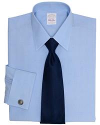 Brooks Brothers Golden Fleece All Cotton Non Iron Fine Glen Plaid Dress Shirt