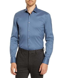 BOSS Jonty Slim Fit Solid Dress Shirt