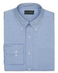Lauren Ralph Lauren Pinpoint Solid Dress Shirt