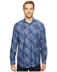 Bugatchi Long Sleeve Classic Fit Spread Collar Shirt Long Sleeve Button Up