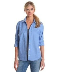 Long sleeve stretch poplin shirt medium 65111