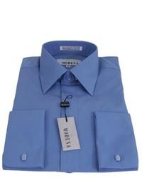 Modena Solid Cadet Blue French Cuff Dress Shirt