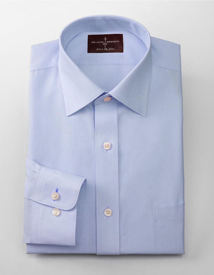 Black Brown 1826 Regular Fit Non Iron Solid Dress Shirt | Where to ...