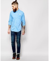 51be74eade8 Scotch & Soda Shirt With Button Down Collar Single Pocket, $95 ...