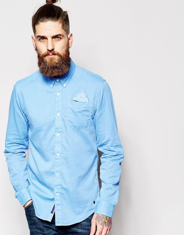 Scotch & Soda Shirt With Button Down Collar Single Pocket | Where ...