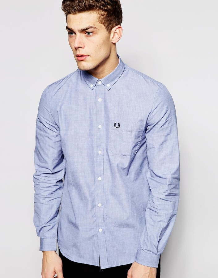 4f2277a480 ... Fred Perry Shirt With Pocket ...