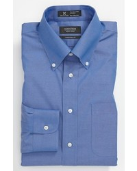 Shop smartcare traditional fit pinpoint dress shirt medium 296462