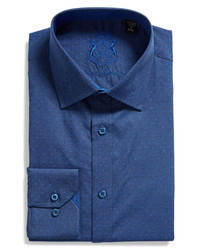 English Laundry Slim Fit Dot Dress Shirt