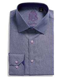 English Laundry Slim Fit Houndstooth Dress Shirt